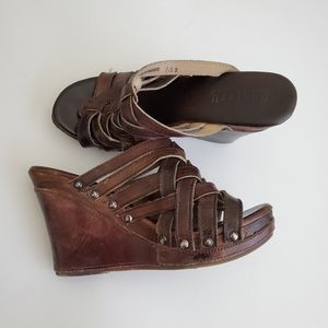 Bed Stu Leather Wedge Sandals